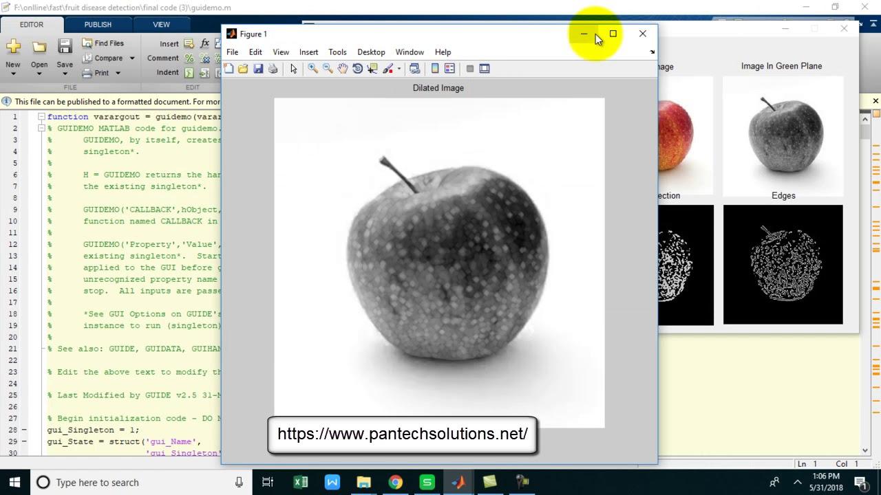 Fruit disease detection using Image Procesing -Matlab