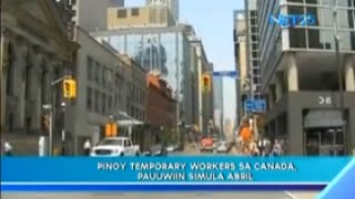 Filipino temporary workers on Canada, to send back home this April