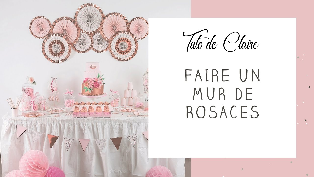 Tuto comment monter un mur de rosaces en papier en - Faire un mur de photos decoration ...