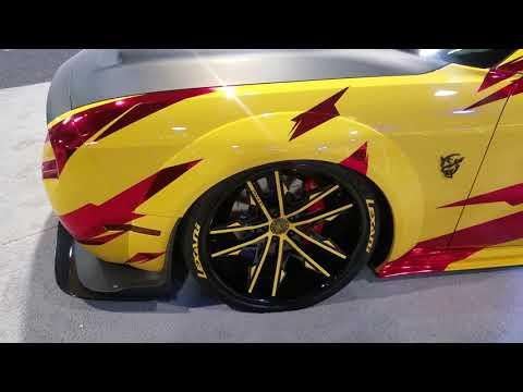 DUBSandTIRES.com Lexani Wheels Black Yellow Rims Dodge Challenger Demon Custom Built Sema Hellcat