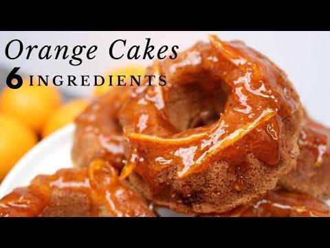 Only 6 Ingredients I The Best Orange Cakes | Gluten-free, Vegan, Oil-free