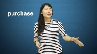 PURCHASE - Từ tiếng Anh thường phát âm sai (Moon ESL)