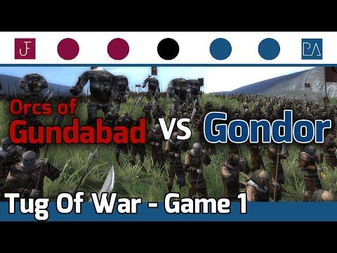 Medieval 2 Total War: Third Age - Tug Of War - The Orcs Of Gundabad vs Gondor #1