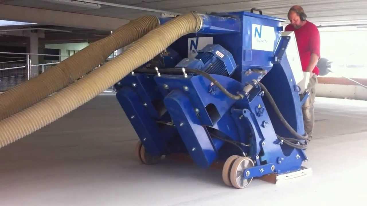 Garage Parking Stop >> Shot Blasting Parking Garage | Blastrac 2-48DS Shot ...