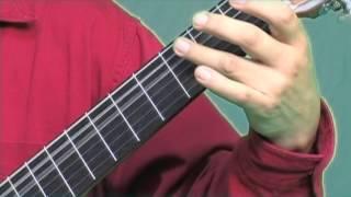 Como tocar la guitarra, combinacion de bajos, parte 3, tutorial
