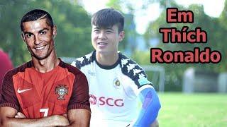 Đỗ Duy Mạnh U23 Việt Nam thần tượng Ronaldo và chém bóng đá về Quang Hải , Đức Huy