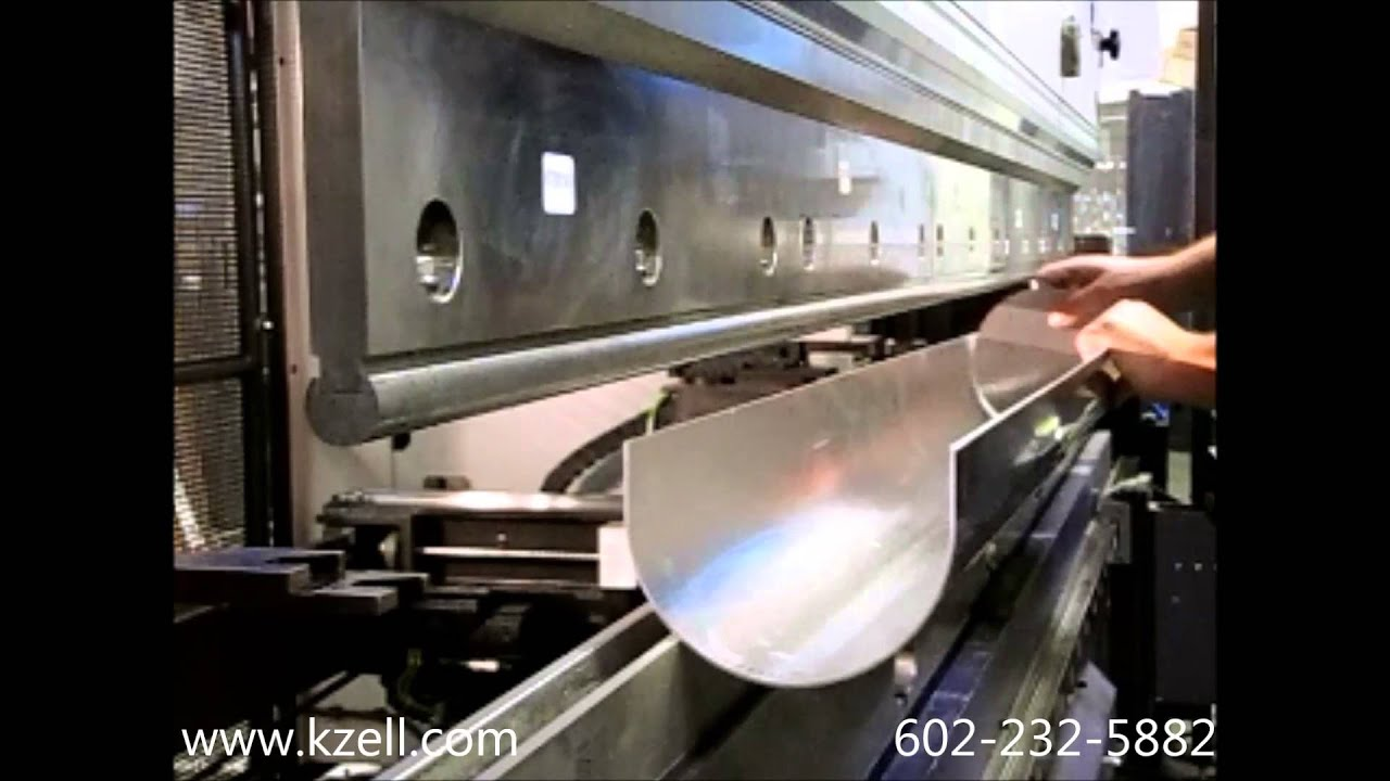 K Zell Metals Press Brake Bump Forming Youtube