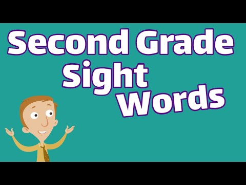Second Grade Sight Words | Dolch List Video