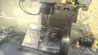 Haas VF5 + TRT210 basic 5 axis machining.