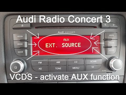 VCDS - Radio Concert 3 - Activate AUX Function