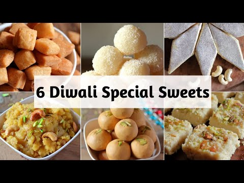 Diwali Special Sweets Recipes - 6 Easy Sweets to Make this Diwali (Hindi)