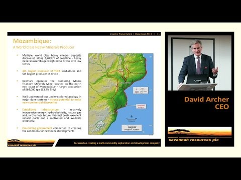 Savannah Resources Investor Presentation 11th December 2013