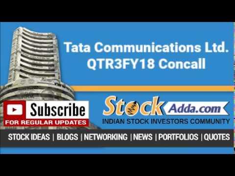 Tata Communications Ltd Investors Conference Call Q3FY18