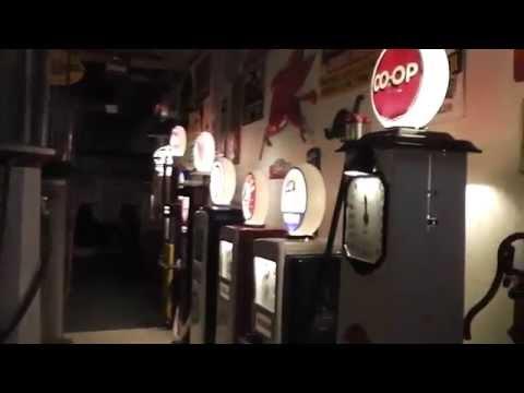 Richard's Fillin' Station Gas Pumps Signs at ABR Antique Mall Hartford South Dakota