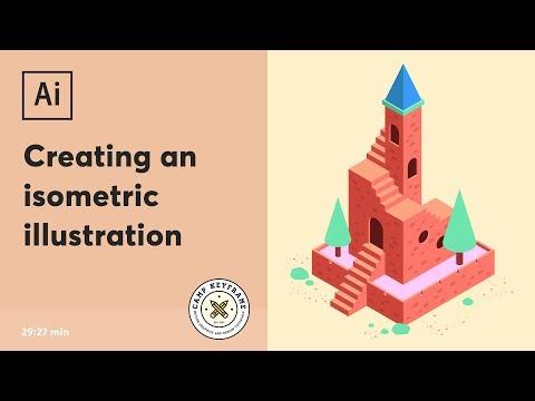 Illustrator Tutorial - Isometric Illustration thumbnail
