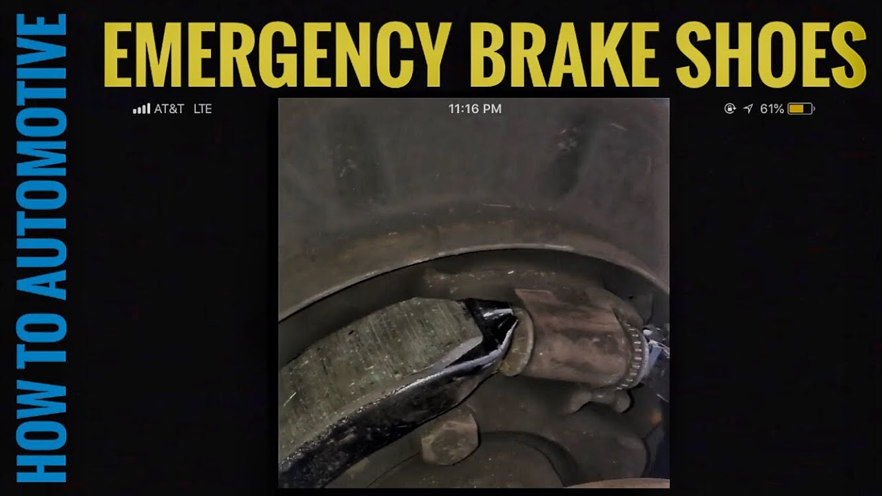how to replace emergency brake shoes on a 2003 chevy suburban [ 1280 x 720 Pixel ]
