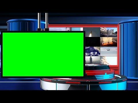 Broadcast News Intro (Free) Green Screen TV Animation