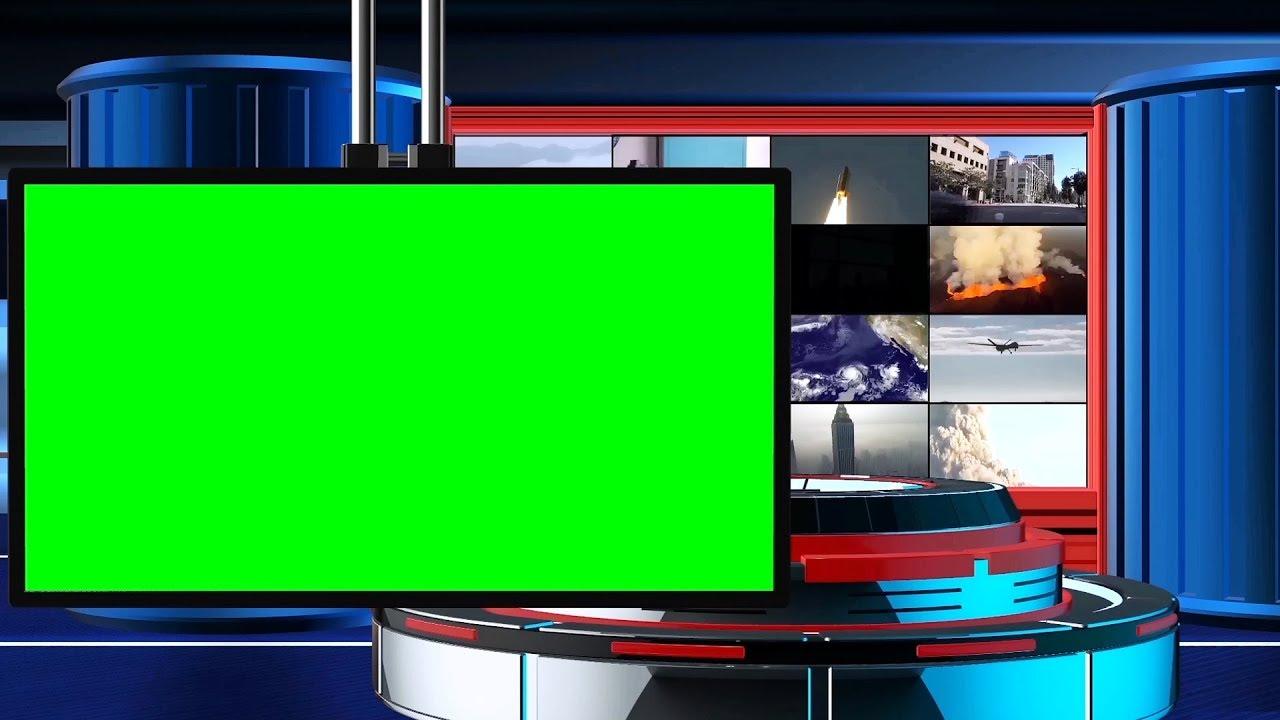 Broadcast News Intro Free Green Screen Tv Animation