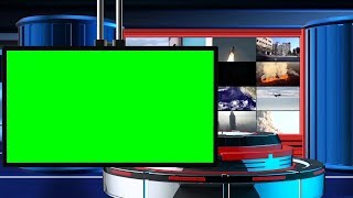 Broadcast News Intro (Free) Green Screen TV Animation