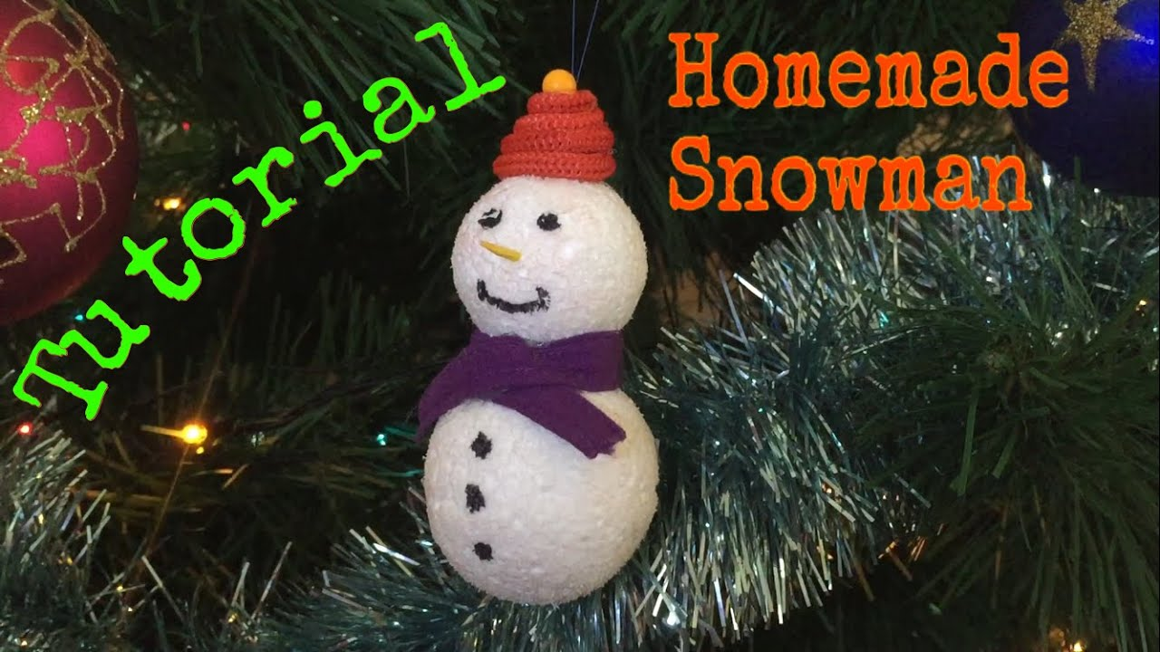 how to make a snowman on your christmas tree tutorial youtube