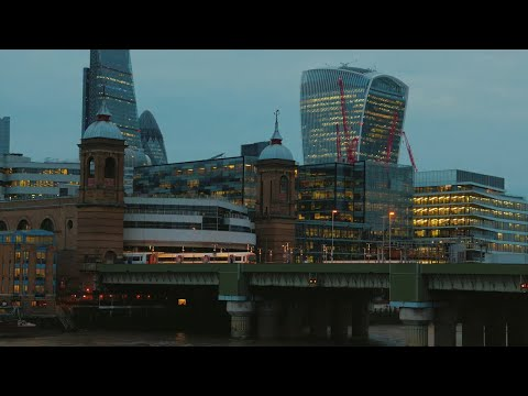 Financial District in London Stock Video