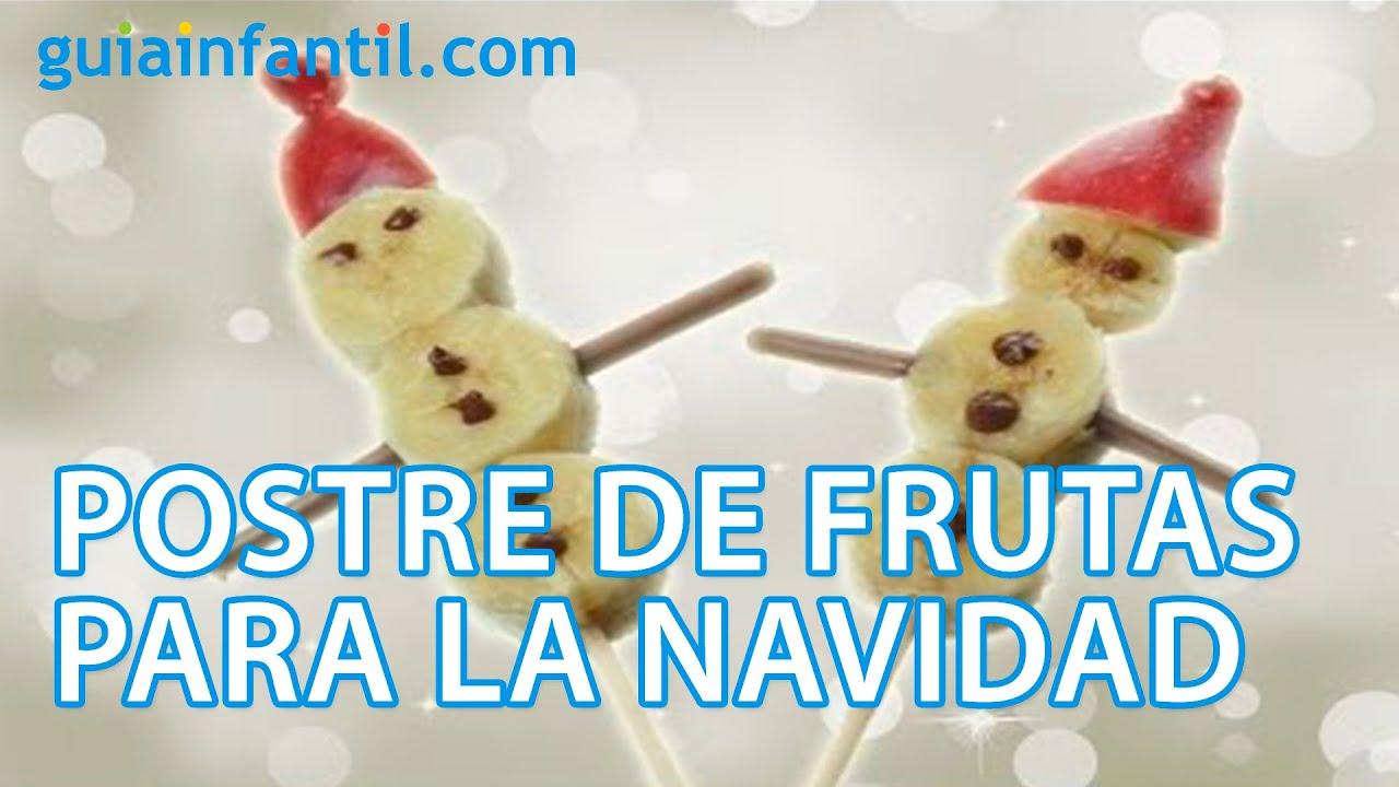 Mu eco de nieve postre de frutas para navidad youtube for Como secar frutas para decoracion