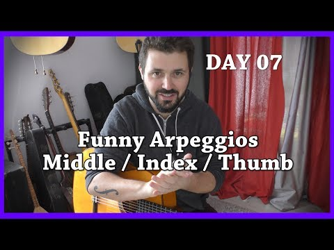 Day 07 - Challenge 1 month, 1 day, 1 master exercise - Classical Fingerstyle Guitar