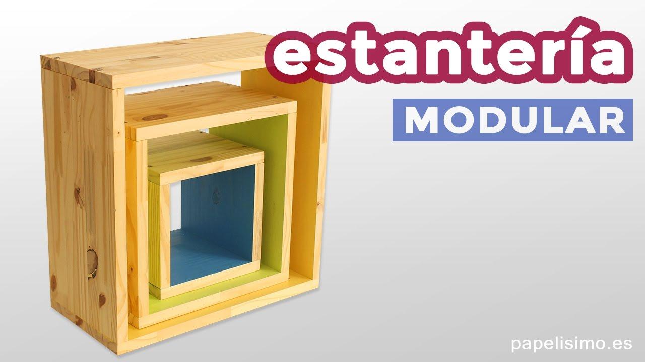 C mo hacer estanter as cuadradas 3 cubos desiguales for Estanterias cuadradas