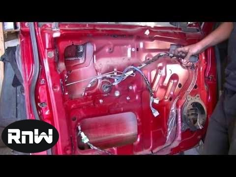 Door Panel, Window Regulator and Door Glass Removal Part 2