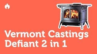 Видео обзор печь камина Vermont Castings Defiant 2 in 1. Внешний вид, характеристики…