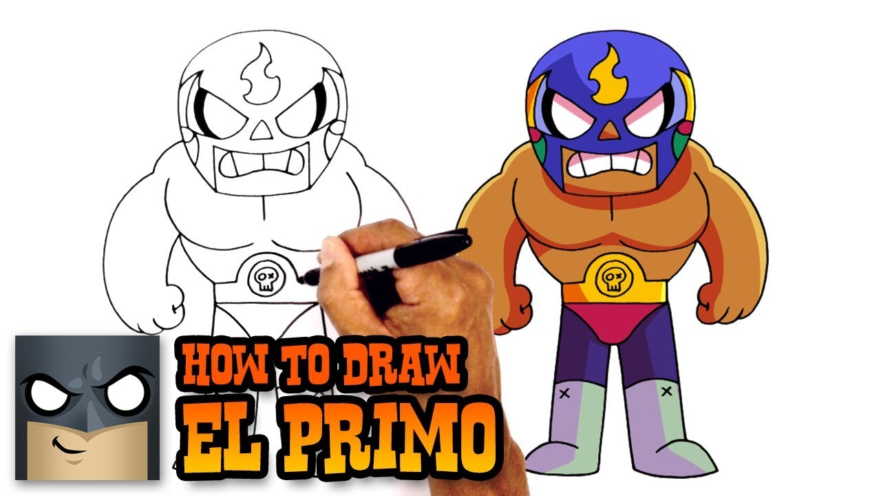 How To Draw Brawl Stars El Primo Youtube