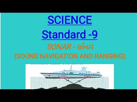 Science Standard -9 Sonar- Sound Navigation and Ranging in gujarati,