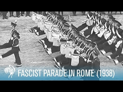 Italian Soldiers Goose Step for Hitler and Mussolini | War Archives