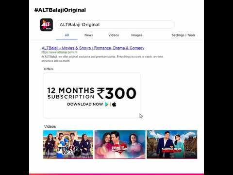 ALTBalaji Original | Download | App | Webseries