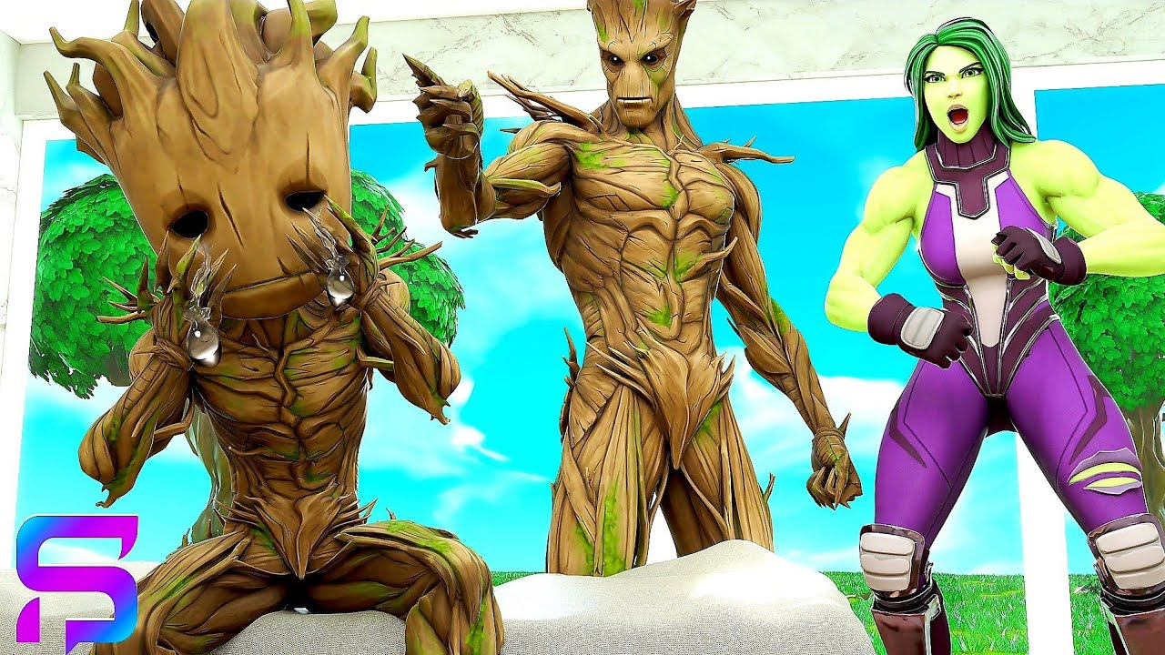 Download BABY GROOT is GROUNDED FOR LIFE.... ( Fortnite Short )