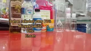 Hand sanitizer. mudah dan caman 4 bahan ...