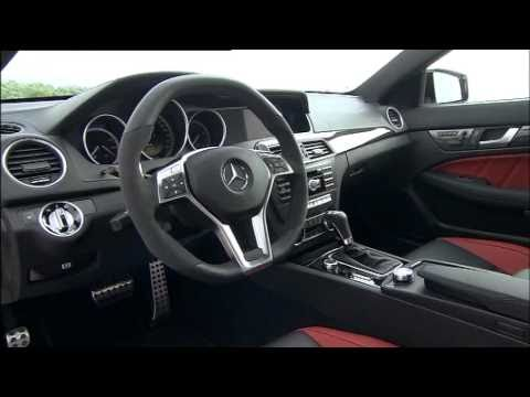 mercedes c 63 amg coupe 2012 interieur youtube