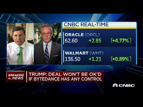 President Donald Trump: Oracle, Walmart must have total control of TikTok