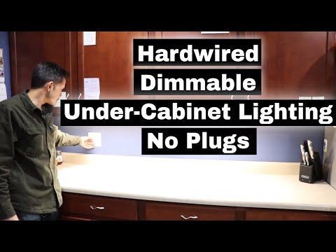 Kitchen Under Cabinet Lighting - No Plugs! Hardwired Installation