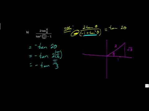 Lesson 7.6 - Double-Angle Identities