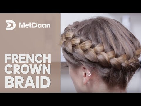 French Crown Braid Hairstyle