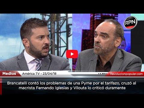 Brancatelli y Vilouta cruzaron al macrista Fernando Iglesias por defender los tarifazos