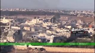 Съемка боев ССА на западе Алеппо (Сирия)
