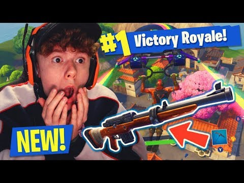 *NEW* HUNTING RIFLE & LUCKY LANDING MAP GAMEPLAY! - CRAZY WIN! Fortnite: Battle Royale)
