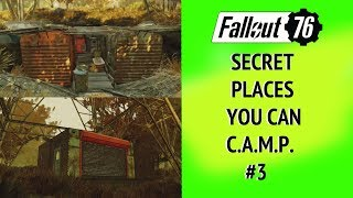 Fallout 76 Secret Places you can CAMP #3