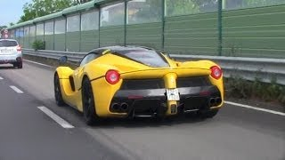Chasing LaFerrari | Yellow LaFerrari Start Up, Chasing and Drive by sounds!