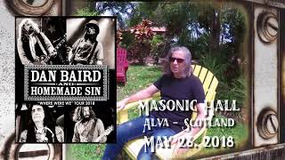 Dan Baird & Homemade Sin - Masonic Hall, Alva May 26th 2018