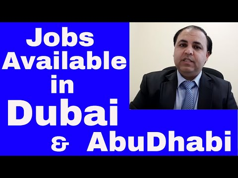 Jobs available in Dubai and Abudhabi | Need many Candidates Part 1|| Jobs in Dubai