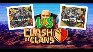 Clash of clans ataques guerra Sanga Team Vs Guerrilla Nica [Español]