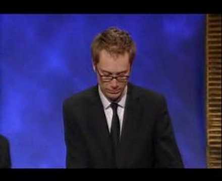 Steven Merchant Accepting Award